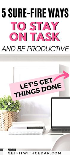 Feeling a bit distracted? Here are 5 fail-proof techniques to stay on task and increase your productivity Productive Things To Do, Productive Day, Work Productivity, Go Getter, Time Management Tips, How To Stay Motivated, Getting Organized, Self Improvement, Keep It Cleaner