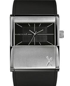 Casual design watch with a black dial and strap from Marc Ecko with an unique look and discount. Popular Watches, Kitchen Appliances, Unique, Casual, Black, Design, Diy Kitchen Appliances, Home Appliances, Black People