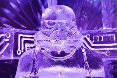 Escultura de hielo. Icebarcelona. Temática (Star Wars) 2016