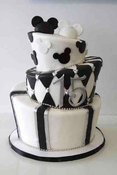 This fun topsy turvy cake was for a anniversary celebration and their love of Mickey & Minnie Mouse was definitely on display as well! Baby Mickey Cake, Mickey Cakes, Mickey Mouse Cake, Amazing Wedding Cakes, Amazing Cakes, Pretty Cakes, Beautiful Cakes, 13 Birthday Cake, Mickey Birthday