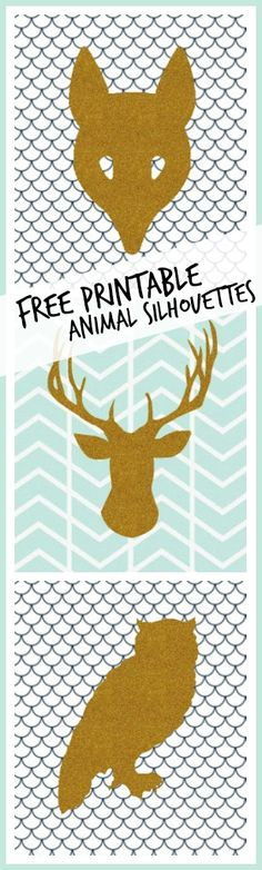 Free Printable for home decor: Animal Silhouettes - Sugar Bee Crafts