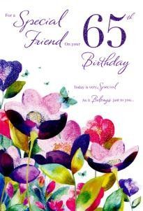 Happy 65th Birthday To A Special Friend Card Amazoncouk Kitchen Home