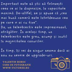 Vrei să înveți fotografie și nu știi de unde să începi? Hai la cursul lui Valentin Boboc și primești răspuns la toate nelămuririle tale pe acest subiect. :)