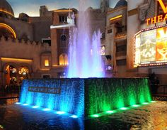 Planet Hollywood fountain at Miracle Mile shops is another free water show, apparently quite good.