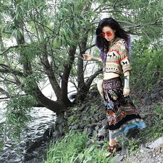 Bewolf Fashion: INDIE FESTIVAL HIPPIE OVERSIZE ROUND COLORFUL LENS SUNGLASSES 9580
