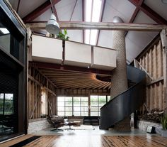 Shortlisted for the prestigious Stephen Lawrence National Architecture Award and awarded a 2015RIBA South Eastregional award the Ancient Party Barn is a playful re-working of historic agricultural buildings for residential use. The design inverts the typical barn-conversion type, creating hermetic, introspective spaces set in open countryside.  The clients, digital designer John Sinclair and fashion designer Deborah Harvey are collectors of salvaged architectural artefacts and ma...