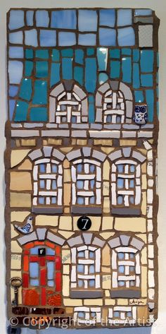 Number 7 by Anja Herle ~ Maplestone Gallery ~ Contemporary Mosaic Art