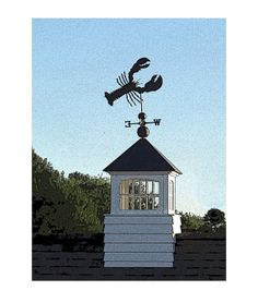 Lobster Weathervane On White Cupola, Boothbay Harbor, Maine, Home  Living, Nautical, Coastal Maine, Maine Travel Photo, FREE SHIPPING USA on Etsy, $10.00