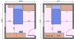 Kids bedroom layout measurements, bedroom dimensions, bedroom measurements