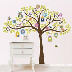 Wall Pops Owl Tree Wall Decal Kit - Kids and Nursery Wall Art at Hayneedle
