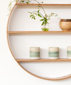 Bride and Wolfe Oak Circle Shelf – Large | Tip You're It