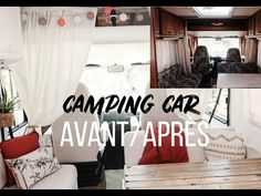 Transformation de notre camping car [budget, matériaux...] - YouTube Van Camping, Van Life, Bus, Travelling, Europe, Inspiration, Home Decor, Rv Makeover, Camping Hacks