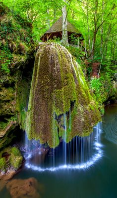 Waterfall in the World Bigar Romania in Anina Mountains
