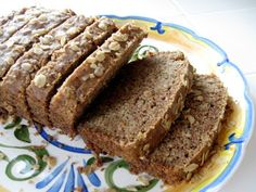 Gluten-free bread made from buckwheat flour, chia meal, brown rice flour and tapioca flour