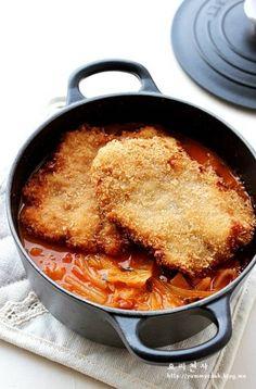 돈까스 김치찌개 만드는법, 김치찌개 끓이는법