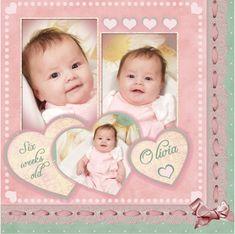 Your arrival sweet baby girl pinterest baby scrapbook baby layout solutioingenieria Gallery