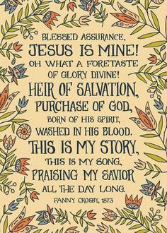 One of Fanny Crosby's best hymns