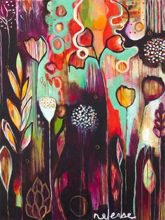 """Release"" contemporary wall art by Flora Bowley for GreenBox Art + Culture $159"