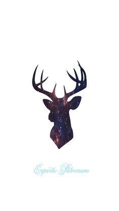 Expecto Patronum iPhone 6 Wallpaper  Harry Potter Spells Stag Silhouette