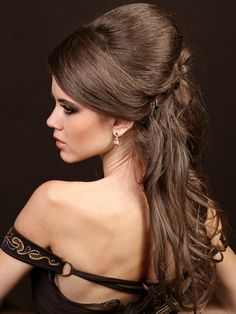 Elegant prom and wedding ready half-updo