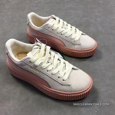 514d986c1128 Puma Basket Platform 363906-12 Womens Originals Suede Causal Shoes Pink  Cream White Super Deals