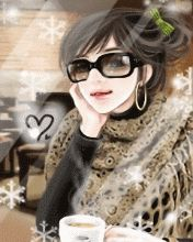 Glitter Graphics: the community for graphics enthusiasts! Sassy Wallpaper, Funny Emoji Faces, Lovely Girl Image, Beautiful Fantasy Art, Dibujos Cute, Cute Korean Girl, Coffee Girl, Girl Sketch, Anime Art Girl