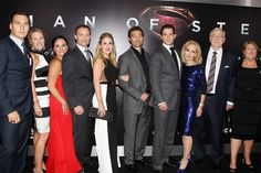 Henry Cavill with his family at the world premiere of Man of Steel