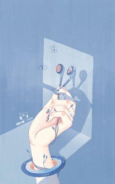 一 场 关 于 春 天 的 魔 术 插画 商业插画 猫矮_MAOI         - 原创作品