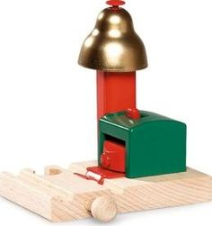 BRIO Magnetic bell signal `One size Details : part(s) Age : From 3 years old Wood Depth : 78 mm Height : 86 mm Width : 82 mm Rail Length 54 mm http://www.comparestoreprices.co.uk/january-2017-7/brio-magnetic-bell-signal-one-size.asp