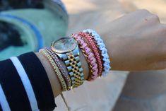 triple ball chain bracelet diy