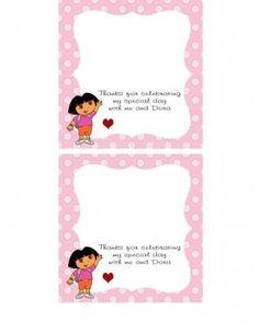 Dora's Thank You Card