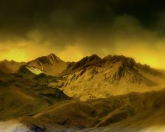 Mountain Gold, Andes Mountains - Peru by Butch Osborne