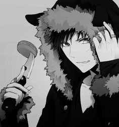 Umm does Izaya have cat ears on his hood? ...Cause I am totally ok with that.