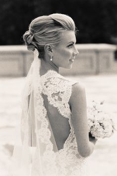 I want a lace wedding dress