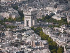 Paris, Arc de Triomphe vu de la Tour Eiffel, août 2014