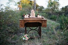 use that antique sewing machine for small dessert table