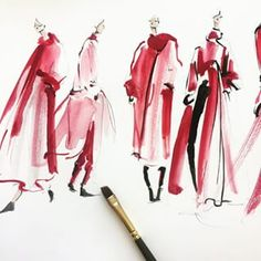 Playing designer. Thinking of red slouchy oversized coats -- Jeanette Getrost