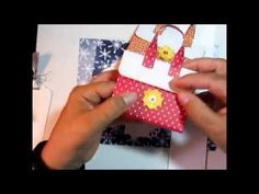 """This is a tutorial showing how to make a gift card purse from a 6"""" x 8"""" piece of scrapbook paper. You can find more paper crafting projects on my blog: www.j..."""