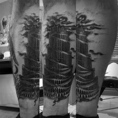 the tower of Babel (Athanasius Kircher) tattoo by Melina van der Werf