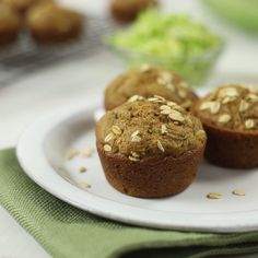([keywords]) Add nutrition and a unique sweetness to your muffins with zucchini. Weight Loss Tea, Fast Weight Loss, Healthy Weight Loss, Body Weight, Best Weight Loss Supplement, Best Weight Loss Program, Onigirazu, Healthy Muffins, Zucchini Muffins