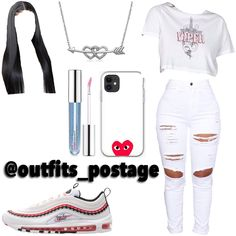 Baddie Outfits Casual, Swag Outfits For Girls, Cute Swag Outfits, Cute Comfy Outfits, Girls Fashion Clothes, Teenager Outfits, Teen Fashion Outfits, Retro Outfits, Ootd Fashion