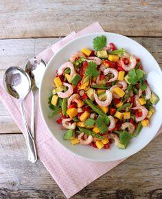 lindastuhaug - lidenskap for sunn mat og trening Skalldyrsalat med mango &amp. Caesar Pasta Salads, Caesar Salad, Avocado, Everyday Food, Food Inspiration, Tapas, Food Porn, Food And Drink, Favorite Recipes