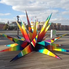 sculpture by Okuda for Artmossphere - Moscow, Russia - September, 2014 (LP)