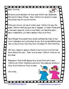 Graduation Goodbye Parent Letter English And Spanish