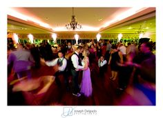 Brooklake Country Club Wedding.  Fun dance floor photo with the Bride and Groom