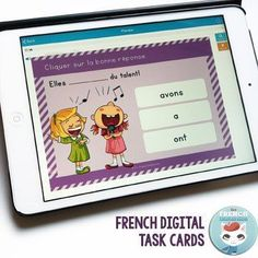 French Digital Task Cards: no more printing, cutting, laminating! All you need is a mobile device or computer. They're self-correcting, too! Click and learn more about Boom Cards! Learning Cards, Ways Of Learning, French Teaching Resources, Teaching French, How To Speak French, Learn French, French Online, Education And Literacy, Core French