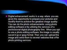 Digital Enhancement Photo Prints