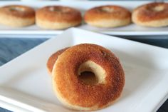 Baked Snickerdoodle Doughnuts from MomAdvice.com.