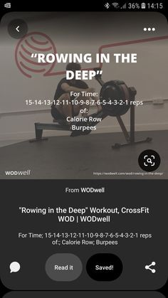 Rowing Workout, Wod Workout, Workout Ideas, Workout Board, Fit Board Workouts, Fun Workouts, Crossfit Workouts At Home, Functional Training, Obstacle Course