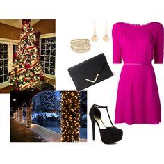 Christmas Party by kayla250 on Polyvore featuring Nina Ricci, JustFabulous, Forever 21, Lipsy, Sence Copenhagen, Christmas, christmasparty and christmas2014